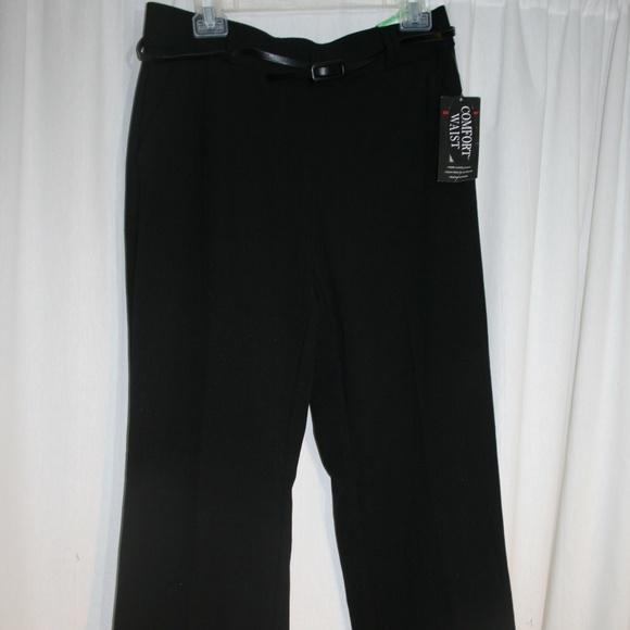 742e527dfd6f5 Womens Sag Harbor Black dress Pants sz 8 New